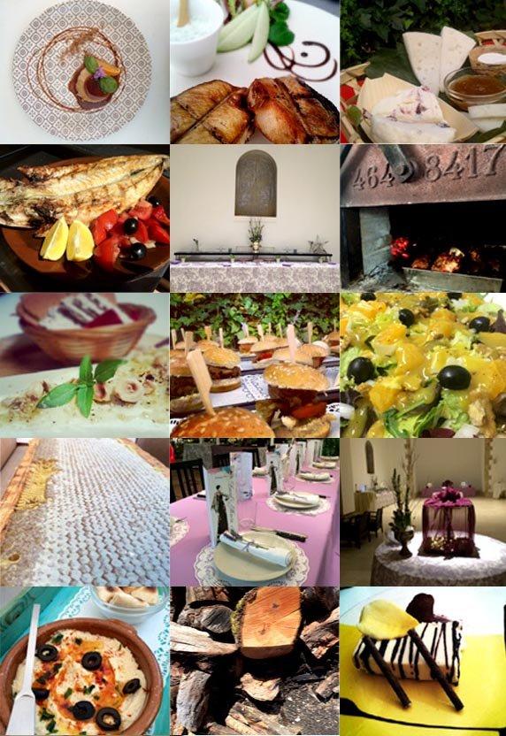 Diferentes fotos sobre el restaurante:entorno, comida, eventos.