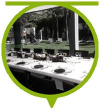 servicio de catering en jardín privado